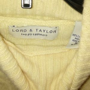 Yellow Cashmere Lord&Taylor Sweater